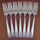 7 x Dinner Forks Wm Rogers Allure 1939 vintage silverplate silver