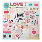 New Crate Paper  HELLO LOVE  12 x 12 Chipboard with foil accents Save 30
