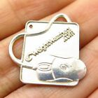 Vintage 925 Sterling Silver Weight Watchers Computer Mouse Pad Charm Pendant