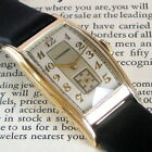 Mens NICE 1937 Longines 14K SOLID GOLD Curved Tonneau Art Deco Swiss Made Watch