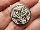 Three Horses on a Silver Vintage Pewter White Wash Button 1