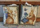 Primitive Spring Easter Pillow Tucks Bunny Rabbit Bowl Fillers Holiday Decor
