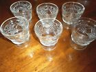6 VINTAGE BIG TOP BY HAZEL ATLAS  SHERBETS FOOTED DESSERT GLASSES 3 5/8