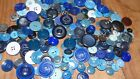 Large Lot of Vintage Buttons Shades of Blue
