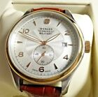 Wenger 79313C Men's Silver Dial Leather Strap Swiss Made Two Tone Watch