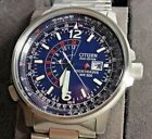 Citizen Men's BJ7000-52L Nighthawk  Blue Dial Stainless Steel Eco-Drive Watch
