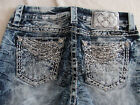Miss Me Signature Boot Jeans VTG 58 Crystals Rhinestones Size 27 NWT 109