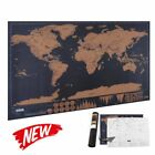 Scratchable Map of The World Travel Personalized Journal Log Gift Wall Decor US