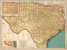 1937 Vintage TEXAS Map Antique Map of Texas State Map Gallery Wall Art 5007