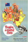 THEYRE A WEIRD MOB orig 1971 RARE movie poster MICHAEL POWELL CHIPS RAFFERTY