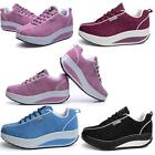 Womens New Walking Shape Ups Red Fashion Running Sports shoes Lace up Sneaker