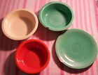 Vintage Homer Laughlin Fiesta Red Ivory Green Bowl Bread Plate Lot