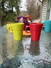 set 2 LATTE MUG CUP scarlet lemongrass FIESTA WARE new
