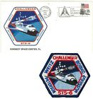 Launch Event Postal Cover  Patch Space Shuttle CHALLENGER mission STS 6