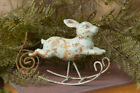 VIntage-Style Rustic Primitive Small Wee Rocking Rabbit Bunny Shelf Sitter