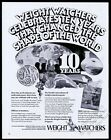 1972 Weight Watchers 10th anniversary vintage print ad