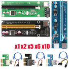 USB30 PCI E Express 1x To16x Extender Riser Card Adapter Power Cable for Mining