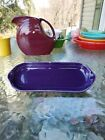 NEW FIESTA WARE utility relish corn on the cob TRAY plum purple