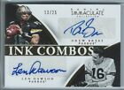 2015 IMMACULATE INK COMBOS DREW BREES LEN DAWSON DUAL-AUTO #13 25