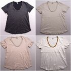 New JCrew Womens Metallic White Beige Pink Black Rhinestone Scoopneck XXS XXL