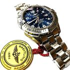 BREITLING SUPEROCEAN A17360 AUTOMATIC BLUE DIAL 42MM STAINLESS STEEL WATCH