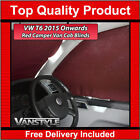 VW T6 2015+ TRANSPORTER  CARAVELLE FRONT CAB PRIVACY BLIND RED CURTAIN 3PC SET