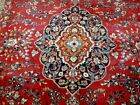 8X11 1940's GORGEOUS ANTIQUE HAND KNOTTED 70+YRS SIGNED WOOL MASHAD PERSIAN RUG