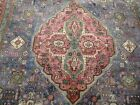 10X7 1920's AUTHENTIC HAND KNOTTED 80+YRS ANTIQUE WORN WOOL TABRIZ PERSIAN RUG