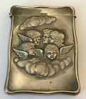 Victorian Sterling Calling Card Case 5 Cherubs English Sterling Hallmarks 1904