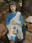 Old BECO 33 SHEPHERD Holding Lamb LIGHTED Blow Mold Nativity