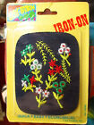VINTAGE 70s HIPPY FLOWERS JEANS IRON ON PATCH BY JOY PATCH POST CARD