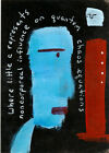 little c e9Art ACEO Non Corporeal Quantum Chaos Outsider Art Painting Abstract