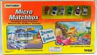 Matchbox Micro Vehicles Playset Police Headquarters  Toll Booth 6 Cars 1995 New