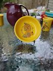 FIESTA 14 OZ CEREAL FRUIT SNACK BOWL sunflower yellow NEW noah's ark