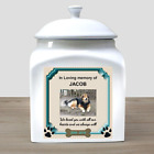 Personalized Dog Urn Dog Photo Cremation Urn Ceramic Photo Urn Photo + Any Text