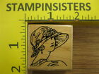Rubber Stamp 1920s Lady Woman Stampabilities Pretty Stampinsisters 1656