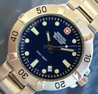 MeN's GeNuiNe SWISS ARMY WENGER SAK~SEAFORCE 200m~RoYaL BLUE DiaL~ALL StaiNleSS