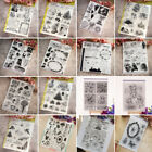 Transparent Clear Silicone Rubber Stamp Cling DIY Diary Scrapbooking Card Decors