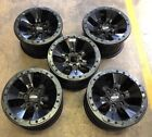 "Set Of 5 17"" FORD F150 RAPTOR BEAD LOCK FACTORY OEM SATIN BLACK WHEELS RIMS"