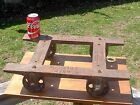 SMALL ANTIQUE INDUSTRIAL CAST IRON CART~LANSING CO. MICH. NO. 1