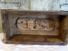 M+B LG Carved Wood Wooden Farmhouse Brick Butter Mold initials 11 1/2