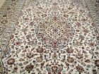 8X12 EXQUISITE MASTERPIECE MINT 200KPSI IVORY WOOL ISFAHANIAN KASHAN PERSIAN RUG