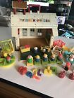Vtg 1971 Fisher Price School House With Some Accessories  People