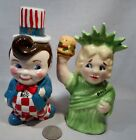 Vintage Advertising Kathy Wolfe Bobs Big Boy  Dolly 4th of July SP Shakers