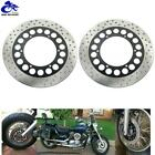 Pair Front Brake Rotor Discs Yamaha Road Star Midnight Silverado XV1600 XV1700