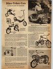 1963 PAPER AD Toy Pedal Moyorcycle  Plastic Battery Stutz Bearcat Honking Horn