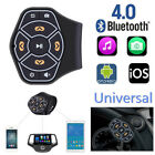 Car Steering Wheel Bluetooth Hands free Multimedia Button Remote Control+Battery