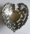 ANTIQUE GORHAM STERLING SILVER RETICULATED HEART CANDY NUT DISH #966 72g