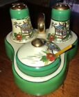 Vintage Japan Ceramic Salt  Pepper Shaker Set Condiment