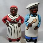 Vintage Black Americana Private Ceramist New Rose Tall Chef  Maid SP Shakers